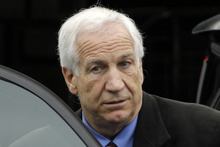 FILE - In this June 18, 2012 file photo, former Penn State University assistant football coach Jerry Sandusky leaves the Centre County Courthouse in Bellefonte, Pa. Former FBI director Louis Freeh, who led a Penn State-funded investigation into the university's handling of molestation allegations against Sandusky, is scheduled to release his highly anticipated report Thursday, July 12, 2012.  (AP Photo/Gene J. Puskar, File)