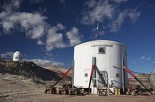 The Mars Desert Research Station in Utah, where a crew of New Zealanders recently performed a two-week simulated mission to Mars. (courtesy photo)