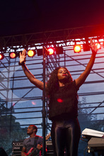 Chris Detrick  |  The Salt Lake Tribune Raphael Saadiq performs during the Twilight Concert Series at Pioneer Park in Salt Lake City on Thursday, July 12, 2012.