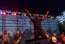 Chris Detrick  |  The Salt Lake Tribune Raphael Saadiq performs during the Twilight Concert Series at Pioneer Park in Salt Lake City on Thursday, July 12, 2012.
