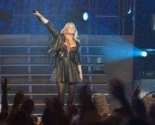 Lennie Mahler  |  The Salt Lake Tribune Demi Lovato performs at EnergySolutions Arena, Thursday, July 12, 2012.