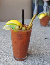 A Bloody Mary cocktail served at Poplar Street Pub Sunday brunch on July 8, 2012. (Courtesy photo by Bobby Robertson)