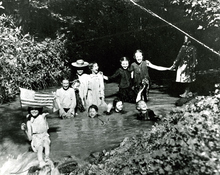 Old Swimming hole at 21st South and McClelland Street in Salt Lake, 1904.