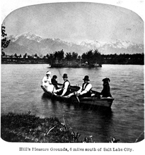 The boat pond at Hill's Pleasure Grounds, 6 miles south of Salt Lake City, 1887.