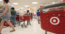 M. Spencer Green  |  The Associated Press Customers fill the aisles at a Target store in Chicago on Thursday, July 5, 2012, in Chicago. The discount retailer said Thursday that a key revenue measure rose 2.1 percent in June as shoppers spent more on food and health and beauty items. But the growth in revenue at stores open at least one year was slightly lower than the 2.4 percent rise that analysts surveyed by Thomson Reuters expected.