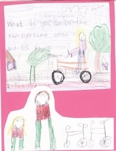 Courtesy photo A childhood drawing by Utahn Arielle Martin shows she had an interest in bicycles from a young age.