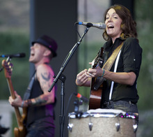 Lennie Mahler     The Salt Lake Tribune Brandi Carlile performs in a sold-out show at Red Butte Garden in Salt Lake City on Sunday, July 15, 2012.