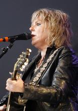 Rick Egan  | The Salt Lake Tribune   Lucinda Williams plays at the Deer Valley Snow Park Amphitheater, Monday, July 16, 2012.