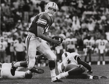 Ty Detmer, BYU quarterback.  Rick Egan photo.  September 9, 1990.