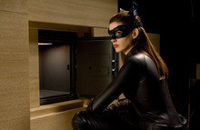 This undated film image released by Warner Bros. Pictures shows Anne Hathaway as Catwoman in a scene from the action thriller
