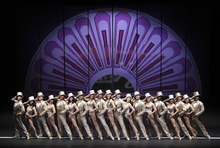 Performers dance during a dress rehearsal of