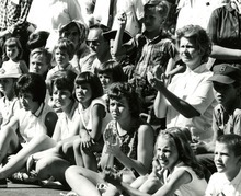 Spectators watch the 1964 Days of '47 parade in Salt Lake City.