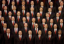 Kim Raff | The Salt Lake Tribune The Mormon Tabernacle Choir sings during the Pioneer Day concert