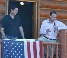 Rep. Jason Chaffetz and Greg Peterson.