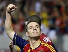 Rick Egan  | The Salt Lake Tribune   Real Salt Lake midfielder Will Johnson (8) celebrates after scoring in the final minute of the game, giving the Real Salt Lake a 2-0 win, over the Colorado Rapids, Saturday, July 21, 2012.