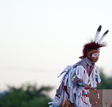 Michael Mangum  |  Special to the Tribune  A member of the Heritage Park Native Dancers group performs during Merrill Osmond's Youth Pioneer Pageant in West Jordan on Monday, July 23, 2012.