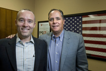 Paul Fraughton | The Salt Lake Tribune Craig Bryan, associate director of the National Center for Veterans Studies, and M. David Rudd, scientific director for the center and dean of the College of Social and Behavioral  Science at the University of Utah, are researching veterans' mental health issues.