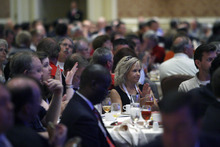 Francisco Kjolseth  |  The Salt Lake Tribune The American Legislative Exchange Council (ALEC), a conservative business-backed non-profit policy group is holding its annual convention in Salt Lake City at the Grand America Hotel.