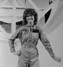 FILE - This undated file photo released by NASA shows astronaut Sally Ride. Ride, the first American woman in space, died Monday, July 23, 2012 after a 17-month battle with pancreatic cancer. She was 61. (AP Photo/NASA, File)