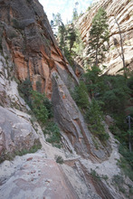 A rockslide blocked the Hidden Canyon Trail in Zion National Park on Wednesday, trapping 11 visitors for three hours.  Courtesy National Park Service