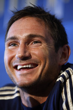 Chelsea FC soccer player Frank Lampard speaks at a news conference at the Independence Visitor Center, Tuesday, July 24, 2012, in Philadelphia. The MLS All-Stars and Chelsea FC will play against each other in Chester, Pa., on Wednesday. (AP Photo/Brynn Anderson)