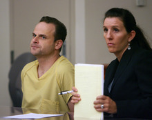 Steve Griffin | The Salt Lake Tribune Republican activist and alleged serial date-rapist Gregory Peterson, left,  sits with his attorney, Cara Tangaro, during a bail hearing in Judge Katherine Bernards-Goodman's courtroom at the Matheson Courthouse in Salt Lake City Wednesday July 25, 2012. Peterson, 37, of Orem, is accused of raping four women -- two of whom say they were taken to a Heber cabin where Peterson has hosted major political events.