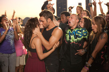This film image released by Summit Entertainment shows Kathryn McCormick, left, and Ryan Guzman a scene from