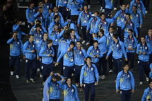 Team Argentina make their way in the stadium during opening ceremonies  Friday, July 27 2012 at Olympic Stadium. John Leyba, The Denver Post