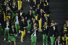Team Brazil make their way in the stadium during opening ceremonies  Friday, July 27 2012 at Olympic Stadium. John Leyba, The Denver Post