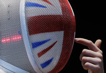 Natalia Sheppard of Great Britain prepares for her match against Corinne Maitrejean of France during the round of 32 at women's fencing at the 2012 Summer Olympics, Saturday, July 28, 2012, in London. (AP Photo/Dmitry Lovetsky)