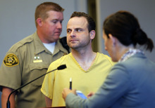 Al Hartmann  |  The Salt Lake Tribune   Greg Peterson appears in Judge Judith Atherton's 3rd District Court in Salt Lake City Friday July 27 to schedule a preliminary hearing.