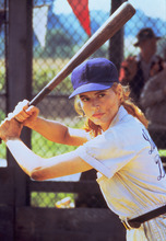 Geena Davis starring in the 1992 film 'A League of Their Own,' which follows the story of a women's baseball team during World War II. Davis will be at the Spring Mobile Ballpark on July 27 to celebrate the 20th anniversary of her film and to honor the historic all-girls Utah Shamrocks fast-pitch softball team. Photo courtesy of Sony.