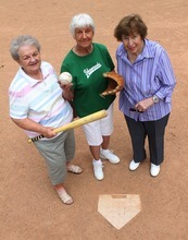 Rick Egan  | The Salt Lake Tribune   Lou Jean Nelson, Donna Poll, and Jean Dallinga are all ball players from the historic Utah Shamrocks fast-pitch softball team. Monday, July 23, 2012.