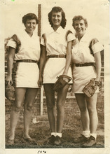 Utah Shamrocks Jean Dallinga, left, Fern Gardner and Donna Poll. Courtesy Donna Poll