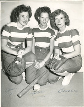 Utah Shamrocks Jean Dallinga, left, Donna Poll and Bessie College. Courtesy Jean Dallinga