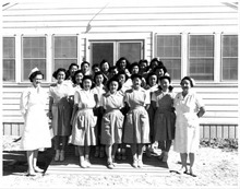 Topaz hospital staff workers.  Courtesy Topaz Collection, Utah State Historical Society.