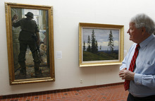 Scott Sommerdorf  |  The Salt Lake Tribune              Dr. Vern Swanson is retiring as director of the Springville Museum of Art after 32 years. Photographed looking at