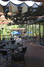 Bobby Robertson  |  For the Salt Lake Tribune The newly added outdoor patio and dining area of
