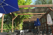 Bobby Robertson  |  For the Salt Lake Tribune The outdoor patio and dining area at The Veranda in Murray.