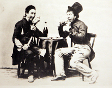 Photo Courtesy of the Utah Historical Society   Salt Lake Theatre players Henry E. Bowring and Phillip Margetts in