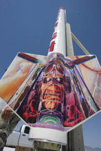 Paul Fraughton | Salt Lake Tribune The  13-foot tall, 110pound rocket,