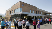 Al Hartmann  |  The Salt Lake Tribune  The new Mental Health Oupatient building at the George Wahlen Department of Vetrerans Medical Center is dedicated Friday in Salt Lake City.  The new building is designed for healing mind, body and spirit.