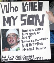 Rick Egan  | The Salt Lake Tribune   A poster to help find out who is responsible for the death of Terron Hooper. Wednesday, August 1, 2012. It's been almost a year since Hooper was run down outside of a West Wendover casino while celebrating his birthday with friends. His killer remains at large