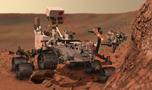 This artists rendering provided by NASA shows the Mars Rover, Curiosity. After traveling 8 1/2 months and 352 million miles, Curiosity landed on Mars Sunday night. (AP Photo/NASA)