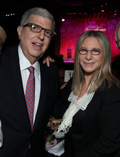 In this Nov. 8, 2011 file photograph  originally released by Cedars-Sinai Medical Center shows composer Marvin Hamlisch, left, and Barbra Streisand at the Cedars-Sinai Board of Governors Gala at The Beverly Hilton Hotel in Beverly Hills, Calif. Hamlisch, a conductor and award-winning composer best known for the torch song