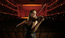 Francisco Kjolseth     The Salt Lake Tribune Violinist Kathryn Eberle, who is starting her second year as associate concertmaster of the Utah Symphony, on the occasion of her performance on an Intermezzo chamber concert.