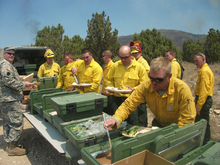 More than 200 firefighters were battling the lightning-caused Pinyon Fire near Eagle Mountain on Tuesday. Courtesy Utah National Guard