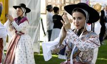 Paul Fraughton   Salt Lake Tribune Dancers  from France's La Jouvenco de Mont- Favet participate in the