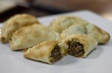 Kim Raff | The Salt Lake Tribune Ana Valdemoros, whose company is Argentina's Best Empanadas, bakes empanadas in the kitchen of Martin's Fine Desserts in Salt Lake City on August 3, 2012.