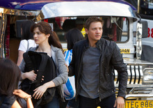 This film image released by Universal Pictures shows Rachel Weisz as Dr. Marta Shearing, left, and Jeremy Renner as Aaron Cross in a scene from